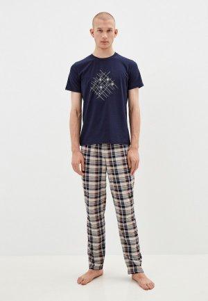 Пижама Оддис. Цвет: разноцветный