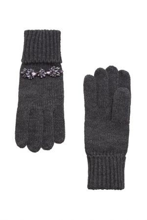 Перчатки MANGO VIOLETA. Цвет: серый