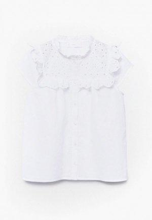Блуза Mango Kids LUCIA. Цвет: белый