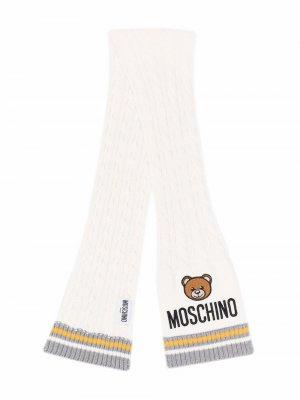 Шарф с принтом Teddy Bear Moschino Kids. Цвет: нейтральные цвета