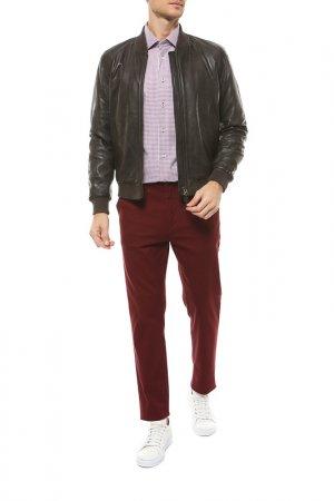 Кожаная куртка PROLEATHER. Цвет: темно-коричневый