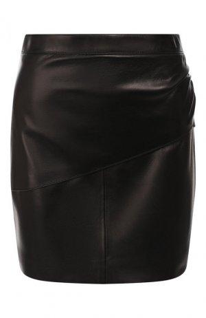 Кожаная юбка Givenchy. Цвет: черный