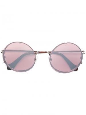 Солнцезащитные очки в округлой оправе Balenciaga Eyewear. Цвет: розовый