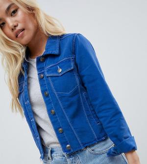 Джинсовая куртка Brave Soul Petite. Цвет: синий