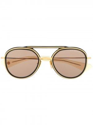 Солнцезащитные очки-авиаторы Dita Eyewear. Цвет: золотистый