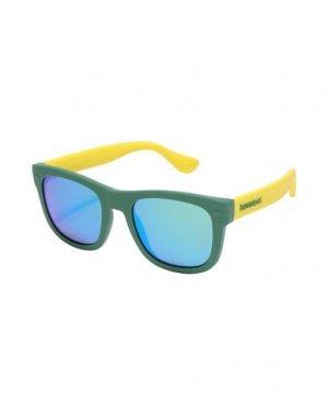 Солнечные очки HAVAIANAS. Цвет: зеленый