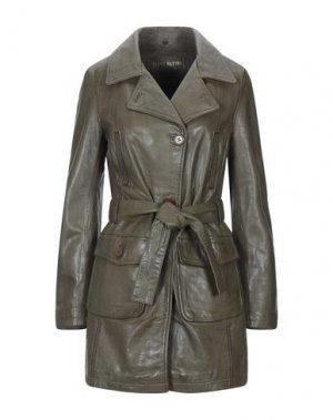 Легкое пальто FREAKY NATION. Цвет: зеленый-милитари