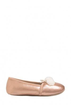 Балетки с помпонами Bonpoint. Цвет: розовый