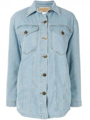 Джинсовая куртка оверсайз Nanushka. Цвет: синий