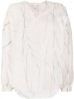 Блузка с приспущенными плечами Alysi. Цвет: нейтральные цвета