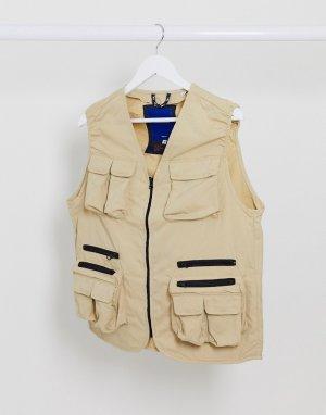 Бежевый жилет в стиле милитари Originals-Светло-коричневый Jack & Jones