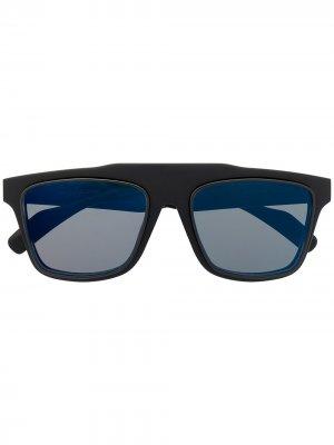 Солнцезащитные очки в прямоугольной оправе Yohji Yamamoto. Цвет: серый