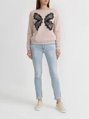 Зауженные джинсы Liu Jo. Цвет: goluboy