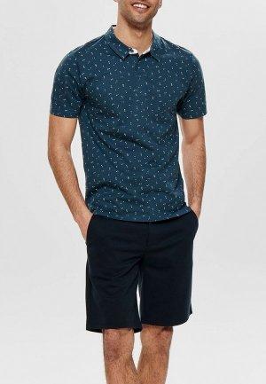 Рубашка Only & Sons. Цвет: синий