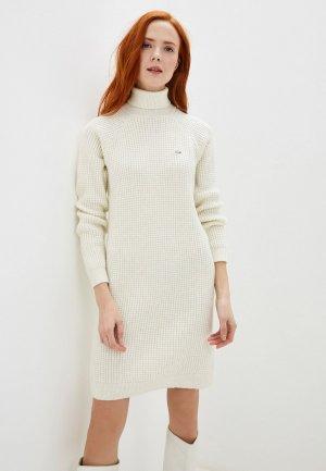 Платье Lacoste. Цвет: белый