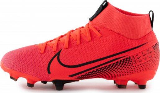 Бутсы для мальчиков Jr. Mercurial Superfly 7 Academy MG Cleat, размер 35 Nike. Цвет: красный