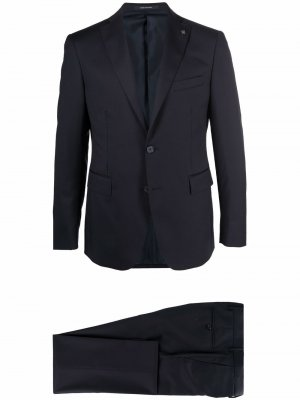 Single-breasted wool suit Tagliatore. Цвет: синий