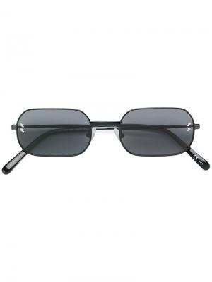 Солнцезащитные очки в прямоугольной оправе Stella Mccartney Eyewear. Цвет: черный