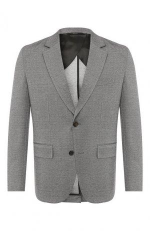 Пиджак из смеси хлопка и шелка Brioni. Цвет: серый