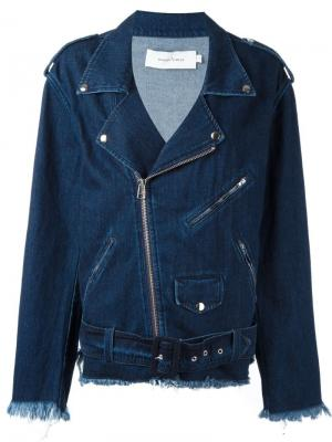Джинсовая куртка свободного кроя Marquesalmeida Marques'almeida. Цвет: синий