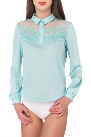 Блуза-боди Arefeva. Цвет: бирюзовый, слоновая кость