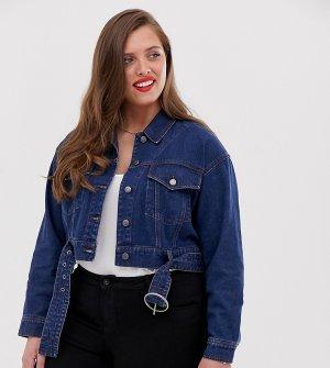 Темная джинсовая куртка в стиле 80-х -Синий Urban Bliss Plus