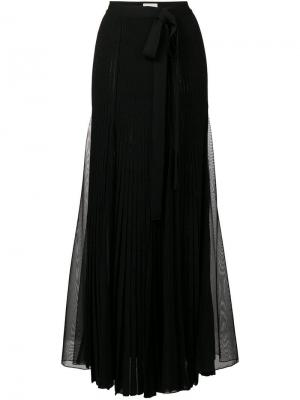 Long slit skirt Elie Saab. Цвет: черный