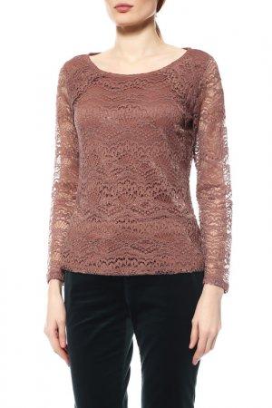Блуза Comma. Цвет: коричневый