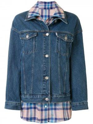 Джинсовая куртка со вставкой PortsPURE. Цвет: синий