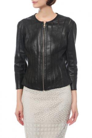 Куртка кожаная Versace Collection. Цвет: черный