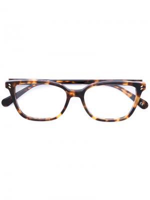 Очки в черепаховой оправе Stella Mccartney Eyewear. Цвет: коричневый