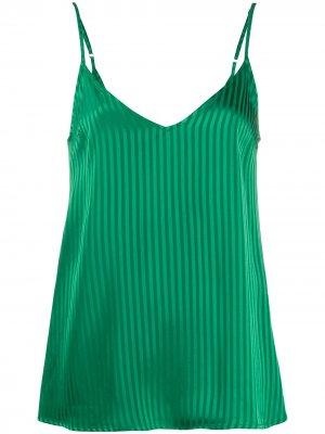 Полосатый топ с V-образным вырезом на спине Federica Tosi. Цвет: зеленый