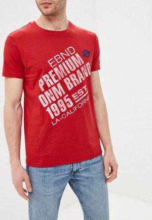 Футболка E-Bound. Цвет: красный