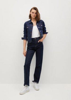 Джинсовая куртка из хлопка - Vicky Mango. Цвет: темно-синий