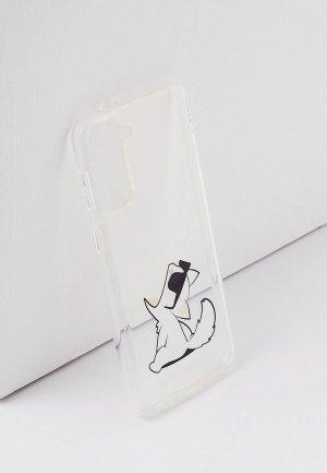 Чехол для телефона Karl Lagerfeld Galaxy S21+, PC/TPU Choupette Fun. Цвет: прозрачный