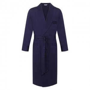 Хлопковый халат Roberto Ricetti. Цвет: синий