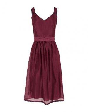 Платье до колена ALEXANDER TEREKHOV. Цвет: пурпурный