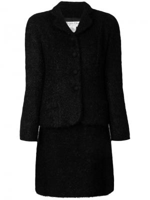Костюм с юбкой букле Christian Dior Pre-Owned. Цвет: черный