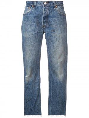 Выцветшие джинсы-бойфренды RE/DONE. Цвет: синий