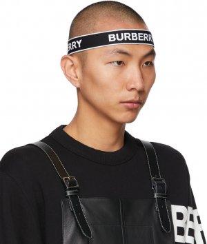 Black & White Jacquard Logo Headband Burberry. Цвет: black