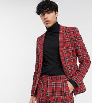 Красный пиджак с принтом тартан Heart & Dagger