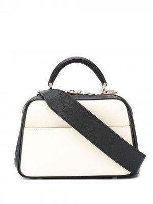 Маленькая сумка через плечо Valextra. Цвет: черный