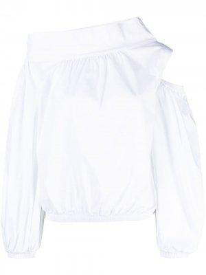 Рубашка асимметричного кроя D.Exterior. Цвет: белый