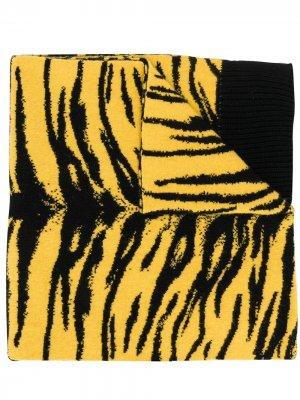 Шарф с принтом Laneus. Цвет: желтый