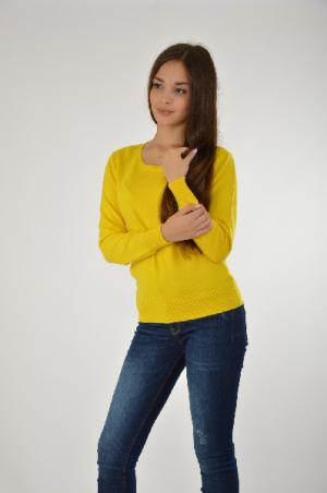 Пуловер BRIONITY. Цвет: желтый