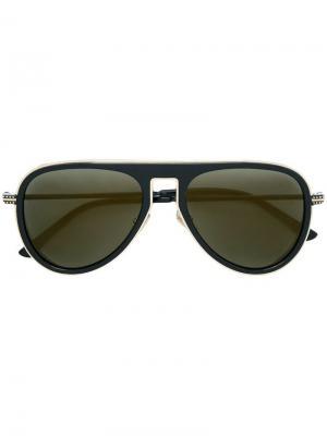 Солнцезащитные очки Carl 56 Jimmy Choo Eyewear. Цвет: черный