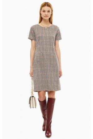 Платье B.YOUNG. Цвет: клетка, коричневый