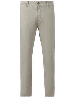 Хлопковые брюки чинос Niko BOGNER. Цвет: зеленый