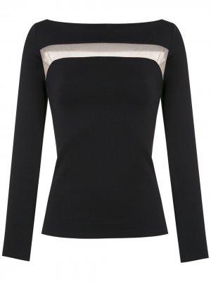 Блузка с прозрачными вставками Gloria Coelho. Цвет: черный