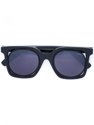 Солнцезащитные очки в квадратной оправе Yohji Yamamoto. Цвет: чёрный